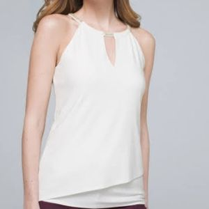 Double Layer Halter-Top in White